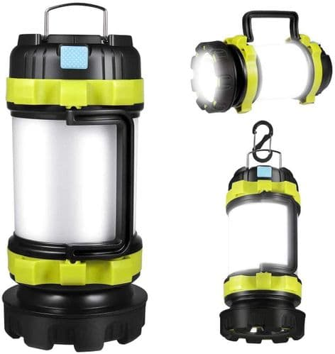 Rechargeable CREE LED Torch, Multi-Functional Camping Lantern, Waterproof